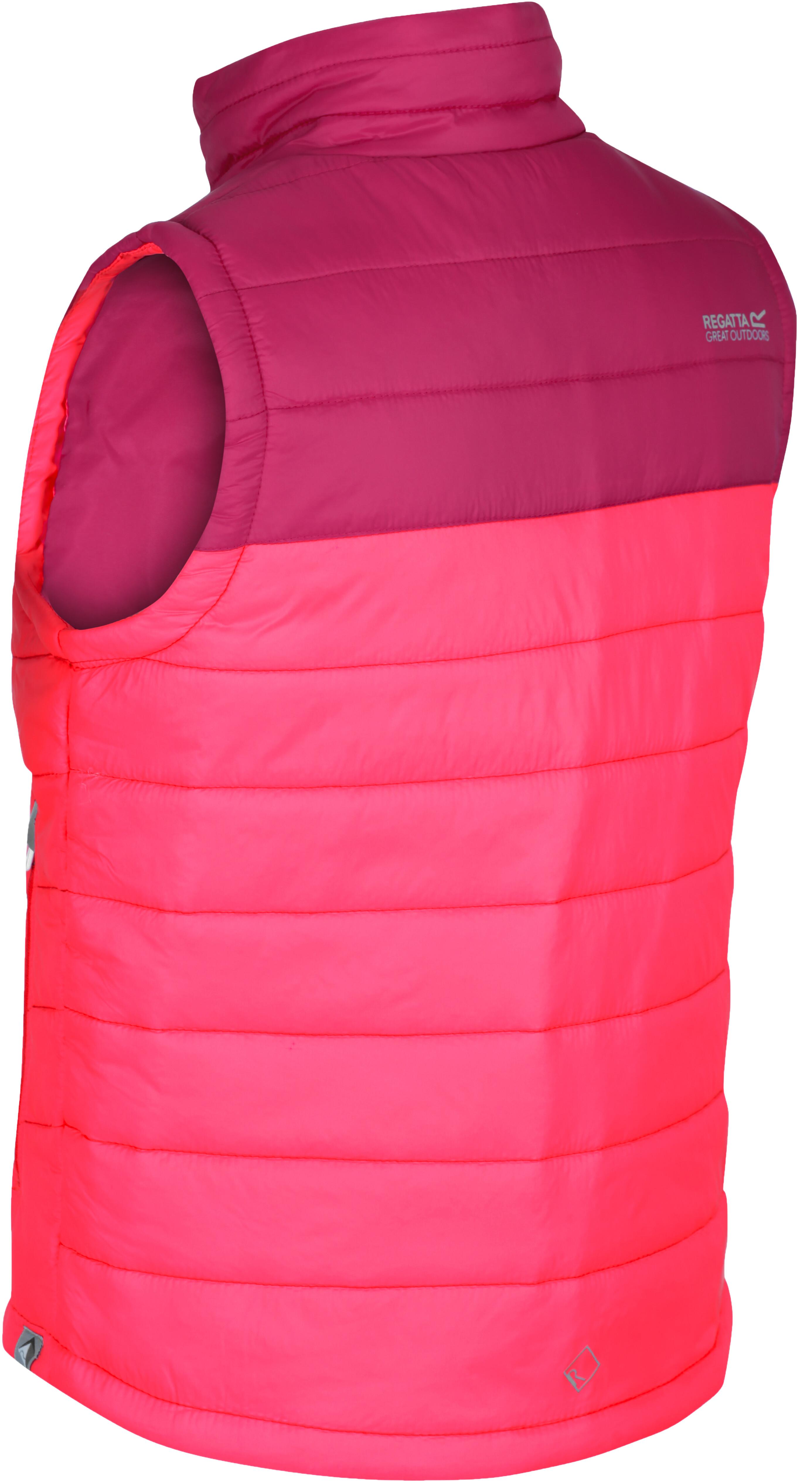 best website 6de51 467c8 Regatta Freezeway B/W Weste Mädchen neon pink reflective/dark cercise